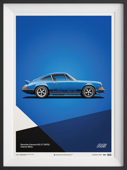 Poster - Porsche 911 Carrera 2.7 RS Poster Art Limited Edition - 2016