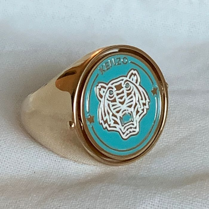 Kenzo - reversible 2 color sided with tiger and protecting eye Bague