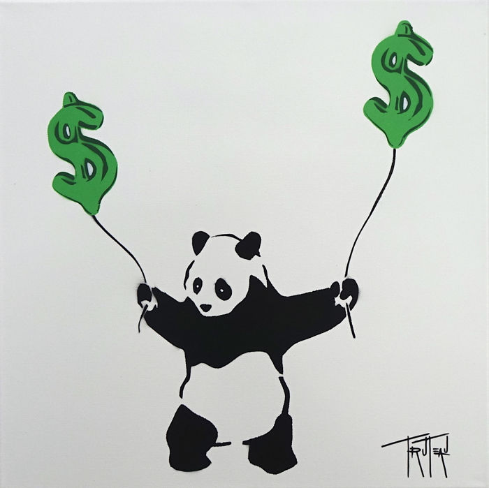 """Truteau - """"S"""" for Sotheby's (The Panda)"""