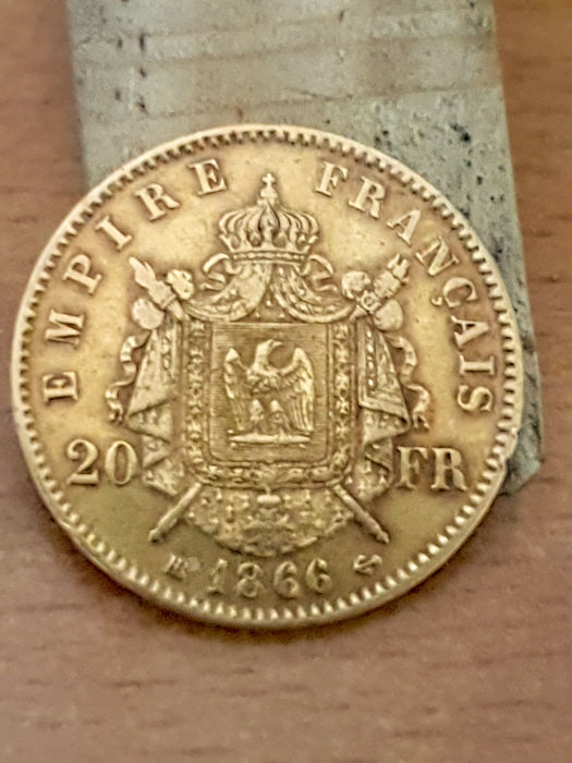 20 Francs 1866 BB Napoleon III - Or