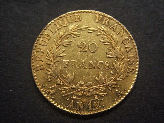 France - 20 Francs An 12-A Bonaparte Premier Consul - Or