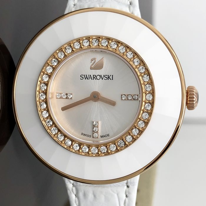 "Swarovski - Octea Dressy White Leather Swiss Made ""NO RESERVE PRICE"" - 5182265 - Mujer - 2011 - actualidad"