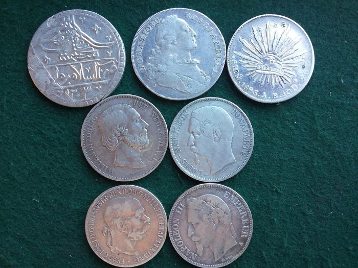 World - Lot various coins 1771/1900 (8 different)  - Silver
