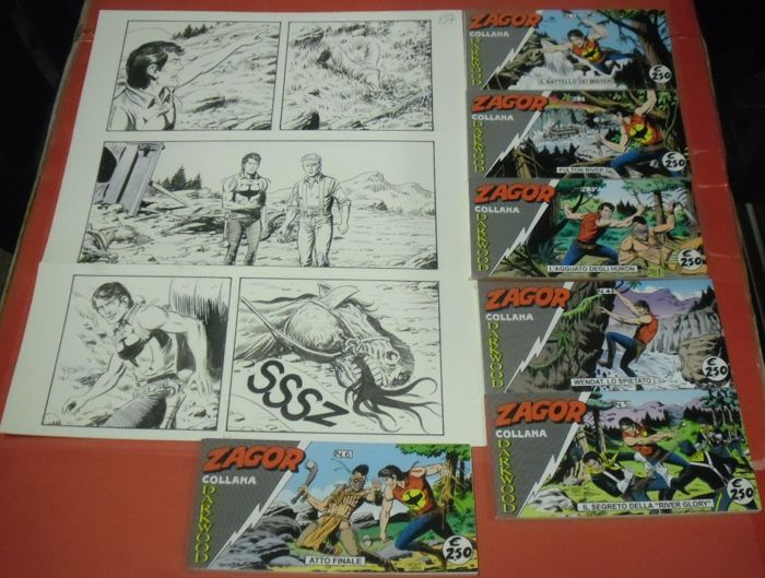 Zagor #626 - original pages + 6x strisce cpl  - First edition - (2017)