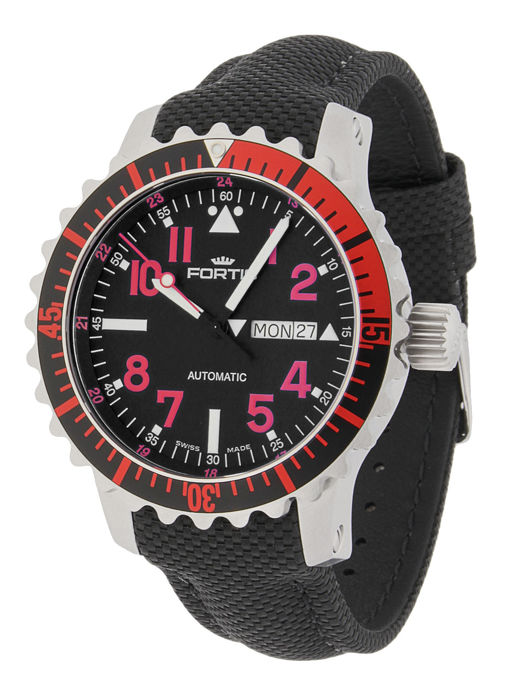 Fortis - Aquatis Marinemaster Day/Date Automatik Rot - 670.23.43 LP - Men - 2011-present