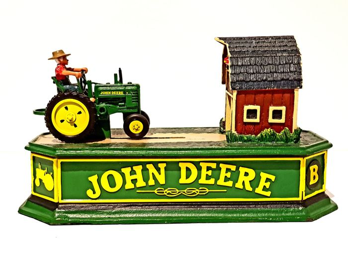 Franklin Mint - Extremely Rare John Deere Mechanical Bank - Iron (cast/wrought)