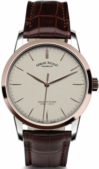 Armand Nicolet - L10 Central Seconds Limited Edition - 8670A-AG-P670MR1 - Homem - 2011-presente