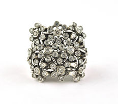 Designer - 18 kraat Hvidguld - Ring Diamant