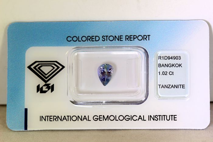 No Reserve Price - Tanzanite - 1.02 ct
