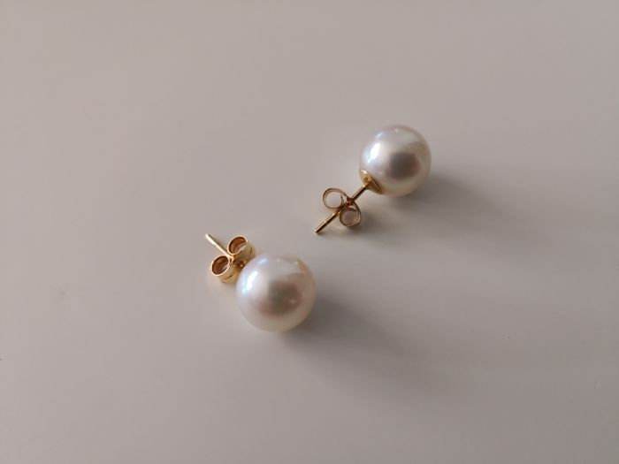 18 kt. Akoya pearls, Gold - Earrings