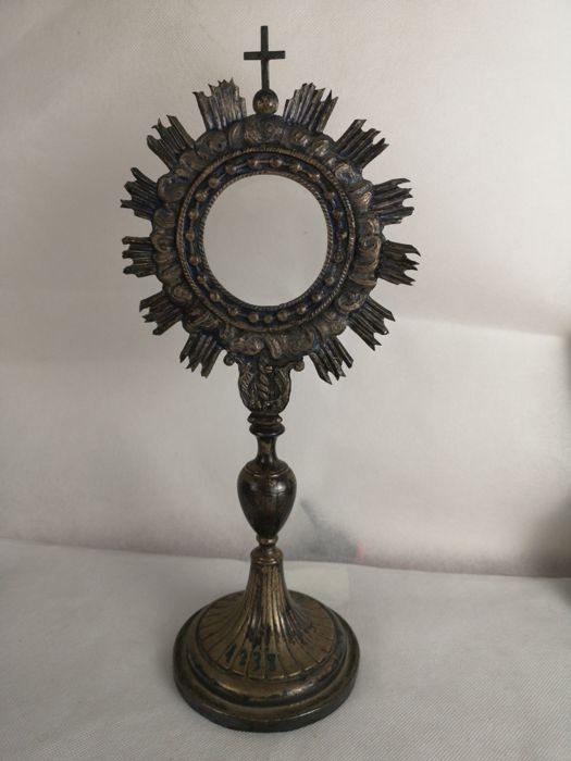 Monstrance - silver-plated metal - First half 19th century