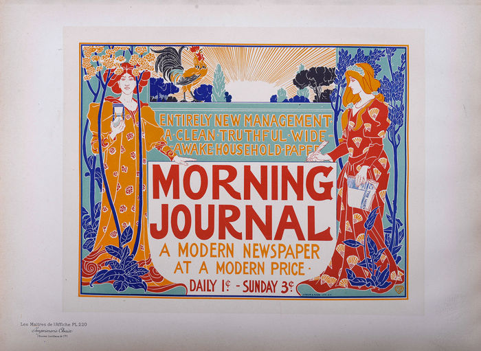 L. Rhead - Maitres de L'affiche - Originele lithografie 1900 - PL 220- Morning Journal