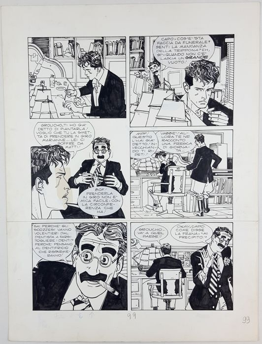 Dylan Dog Almanacco n. 5 - L. Siniscalchi - original page - Loose page - First edition - (1995)