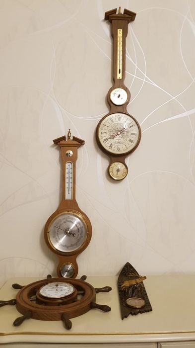 Barometer, Thermometer - Hout, Plastic