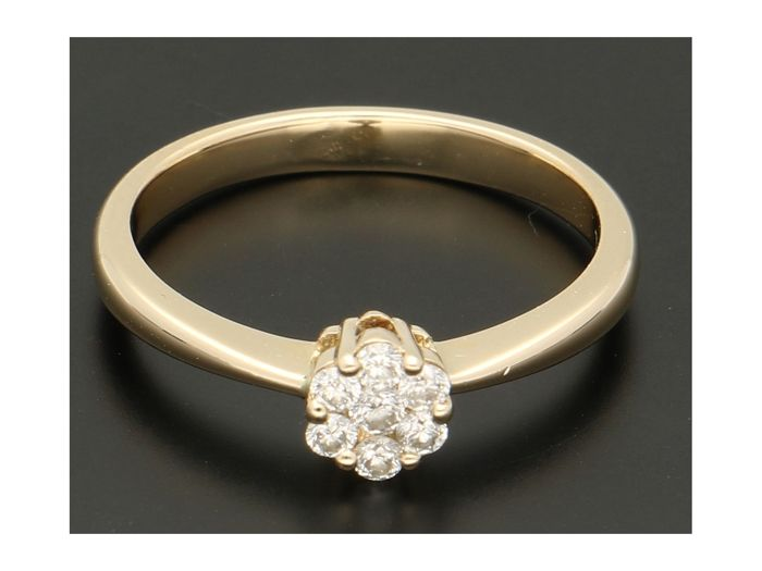 14 kt. Gold - Ring Diamond