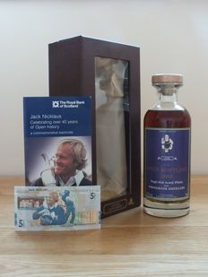 Springbank 12 years old Luvians Bottleshop - Open Championship 2005 - cask 589 + £5 note - 70 cl