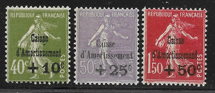 France 1849/1931 - Classic stamps and Caisse d'Amortissement - Yvert Classic between 3 and 105 + 275-77 and 252