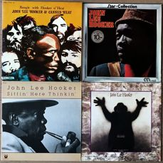 """John Lee Hooker (1 double lp with Canned Heat) - """"Boogie with Hooker 'n Heat"""" """"Star collection"""" """"Sittin' here thinkin'"""" """"The healer"""" - Diverse titels - LP's - 1972/1989"""