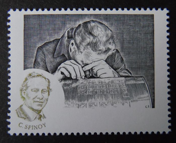 Belgium 1997 - Proof/misprint Stamp Day with the stamp of ...