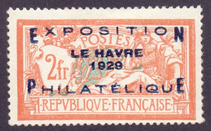 France 1929/1929 - Le Havre philatelic exhibition, signed - Yvert 257 A