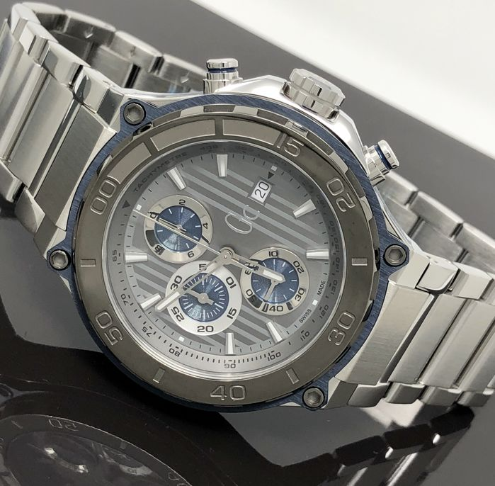 Guess Collection - Chronograph GC Bold Watch Stainless Steel Blue Tone Dial - X56010G5S for sale
