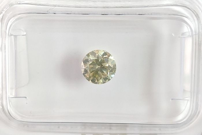 Diamant - 0.51 ct - Briljant - fancy yellowish green - No Reserve Price, SI2