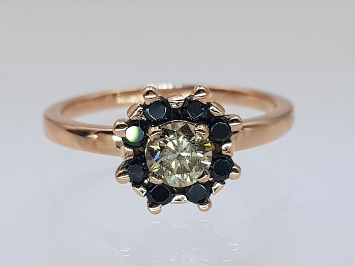 18 kt. Pink gold - Ring - 0.50 ct IGL Certified Diamond - Spinel
