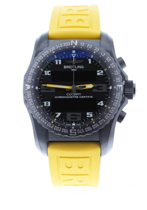 Breitling - Cockpit B50 Night Mission Black Yellow Rubber - VB5010A4/BD41 - Unisex - 2019