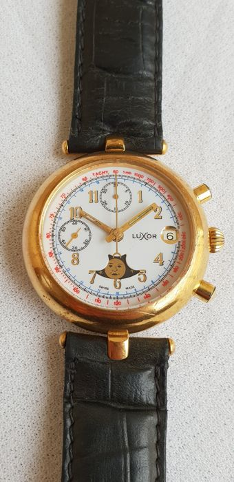 Luxor - Manual Winding - Chronograph - Moon Phase 'NO RESERVE PRICE' - Reference 4.018.0.0.05 - Men - 1980-1989