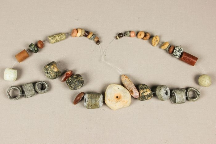 40 very old excavation beads - Pierre - Mali