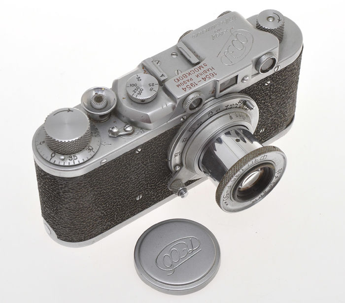 FED FED I (G) Anniversary 1654-1954 with 50/3.5 Fed, very rare Soviet camera