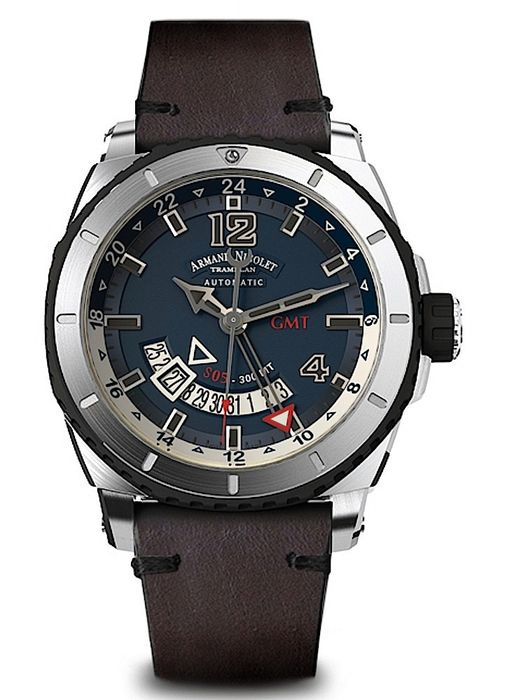 Armand Nicolet - S05 GMT 300M Automatic Date - A713AGN-BU-PK4140TM - from official dealer - Férfi - 2011 utáni
