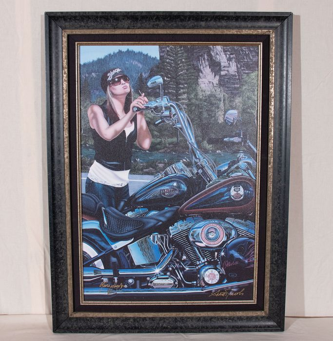 "Giclee auf Leinwand - Harley Davidson - ""In Your Dreams"" Art Work By Scott Jacobs - 2008"
