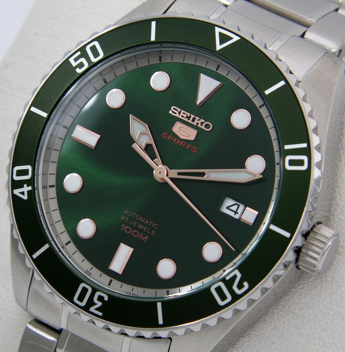 """Seiko - Automatic 23 Jewels """"Green Dial"""" - - """"NO RESERVE PRICE"""" - - Heren - 2018"""