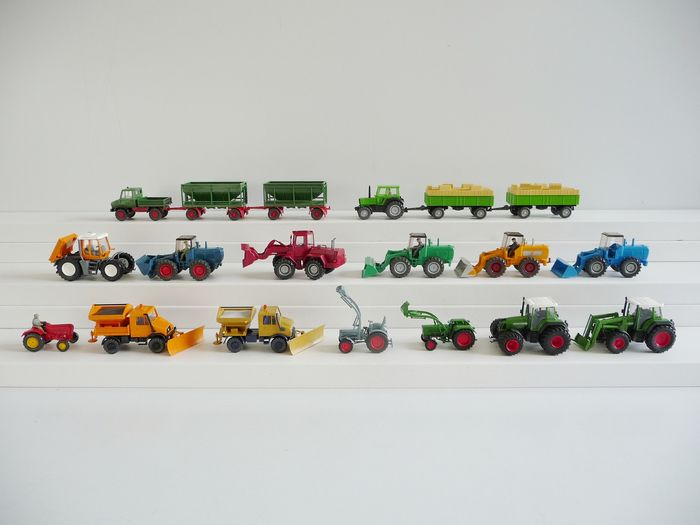 Wiking 1:87 - Tractors - 19 Agricultural vehicles