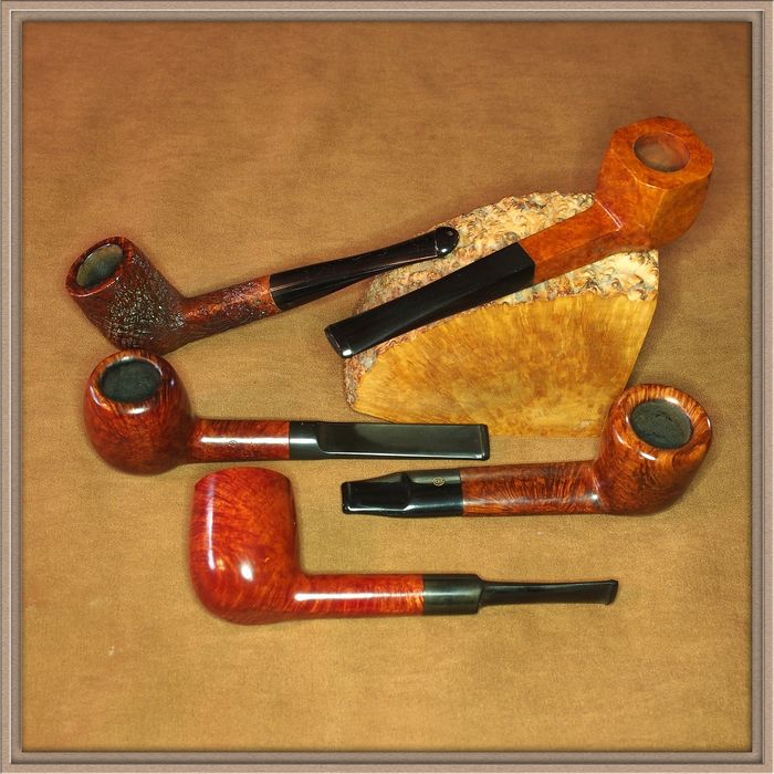 Set of 5 tobacco pipes in top condition