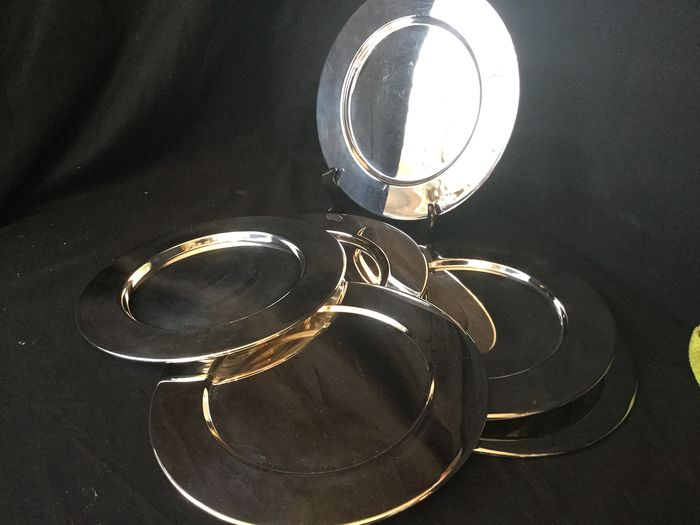 Large silver plated Underplates (6) - Silverplate