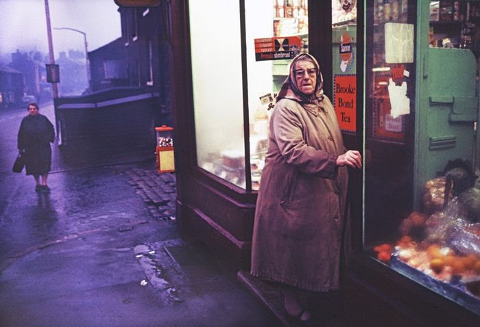 John Bulmer (1938-)  - North UK, Woman at Shop, 1965