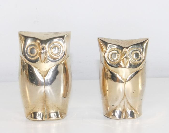 2 pieces of table owls - Silverplate