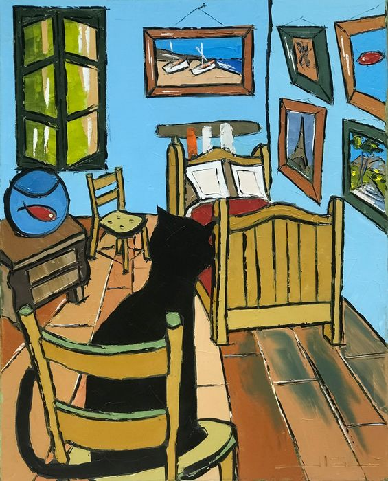 Jiel - Black le chat sur les traces de Vincent Van Gogh...