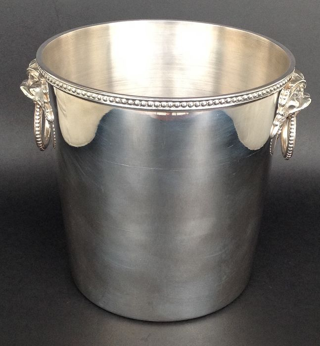 "Ercuis - Ercuis France - silver plated champagne bucket model ""Perles"" - Louis XV - Silver plated"