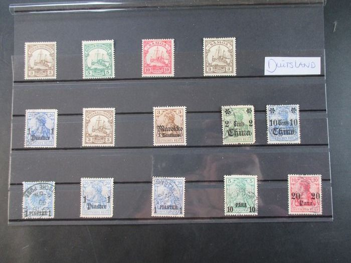Deutsches Reich - From classical Reich, states and colonies on loose sheets, stock pages and cards.