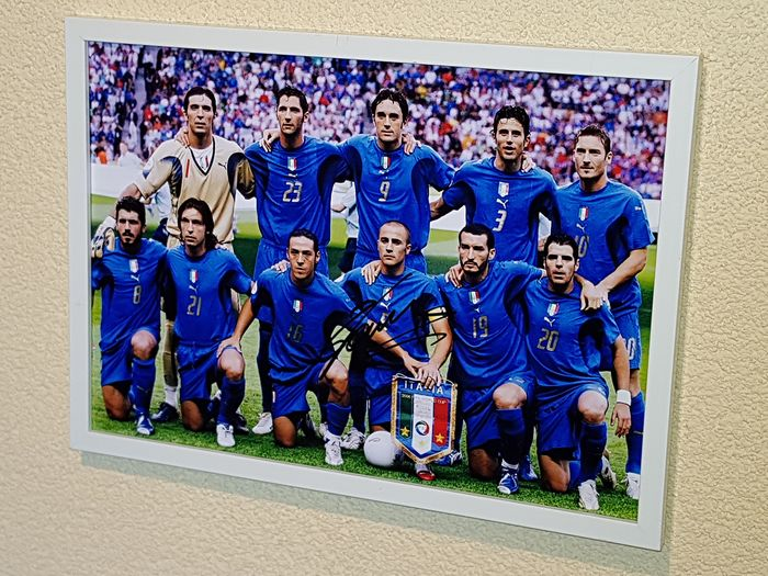 Italy World Champion - Football World Championships - Fabio Cannavaro  - 2006 - hand signed framed photograph