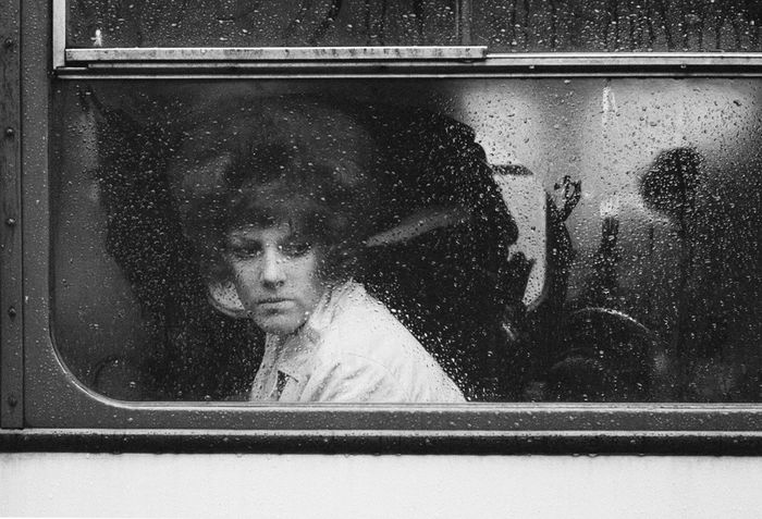 John Bulmer (1938-)  - Warrington, Girl in a Bus, 1963