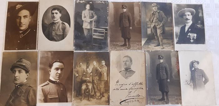 Italy - kingdom of italy - 12 beautiful military postcards - various army corps