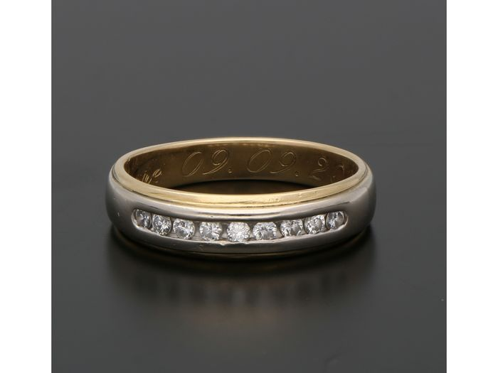 18 karat Gull - Ring - 0.18 ct Diamant