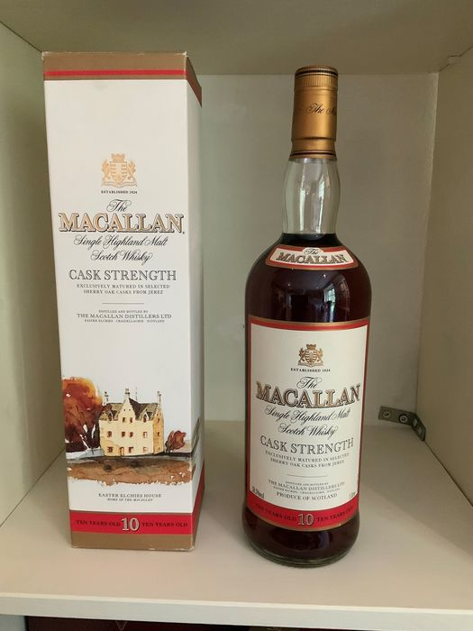 Macallan Cask Strenght 10 years old Original bottling - 1.0 Litre