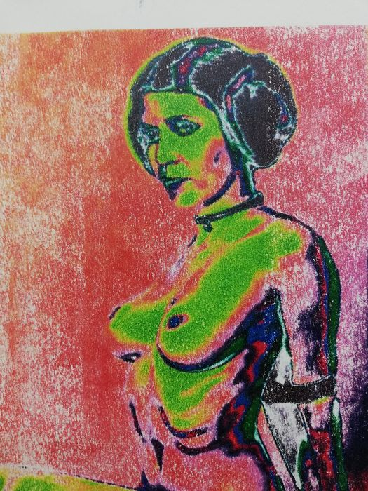 Star Wars - Too bad - Leia -by artist Emma Wildfang - Artwork  -  Stencil technique on 250g acid-free paper