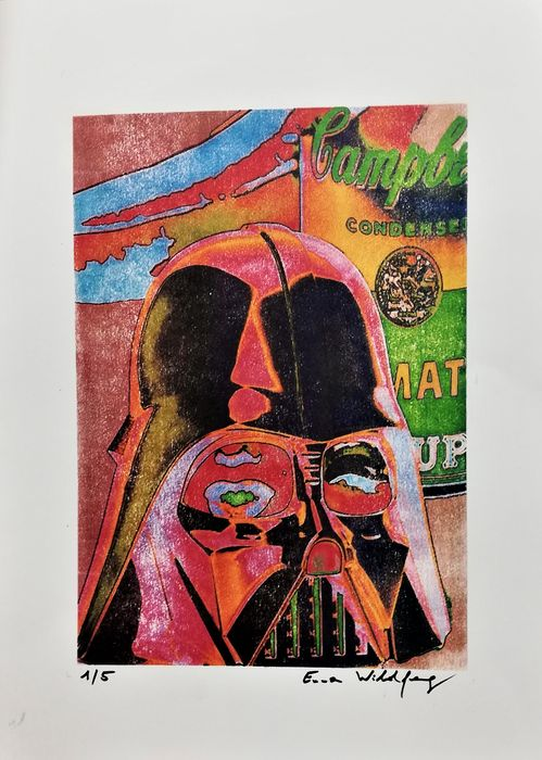 Star Wars - Survival kit by artist Emma Wildfang - Artwork  -  Stencil technique on 250g acid-free paper