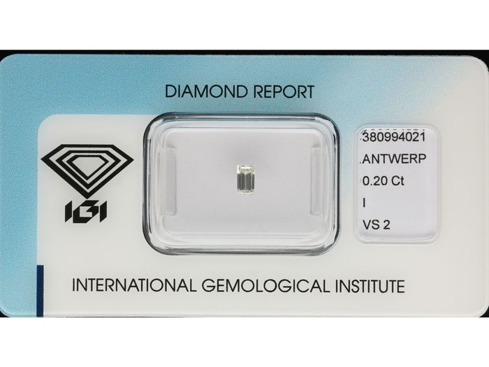 1 pcs Diamant - 0.20 ct - Baguette - I - VS2 ***No Reserve Price***